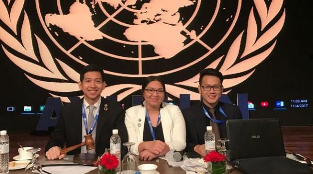 Mahasiswa President University, Rizki Nugraha ditunjuk oleh Asia Youth International Model United Nations (AYIMUN) sebagai wakil Indonesia.