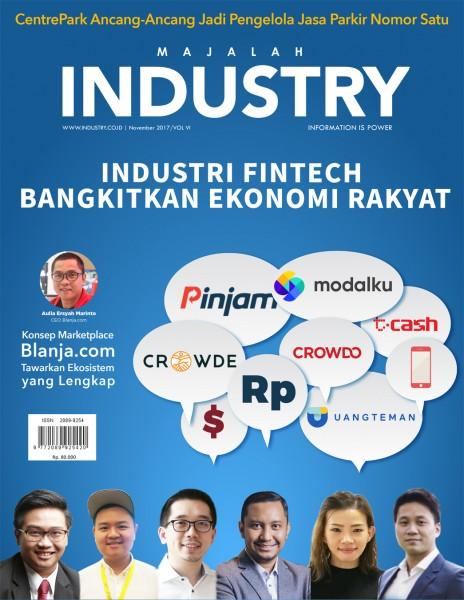 Illustrasi Cover Majalah Industri Edisi November 2017
