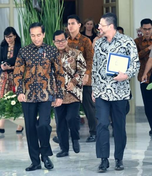 Presiden Jokowi saat menerima Kepala Perwakilan World Bank di Istana Kepresidenan Bogor, Jawa Barat, Selasa (21/11). (Foto: Humas/Rahmat)