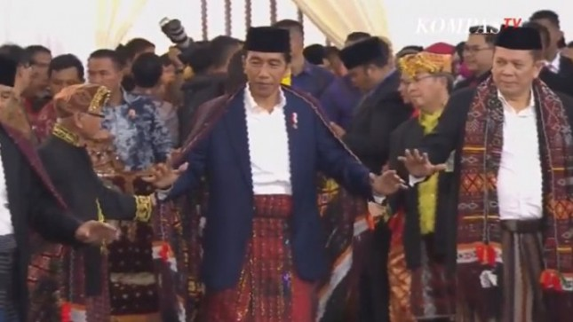Presiden Jokowi di acara pernikahan Kahiyang Ayu dan Bobby Nasution, Medan, (25/11/2017). (Foto Setkab)