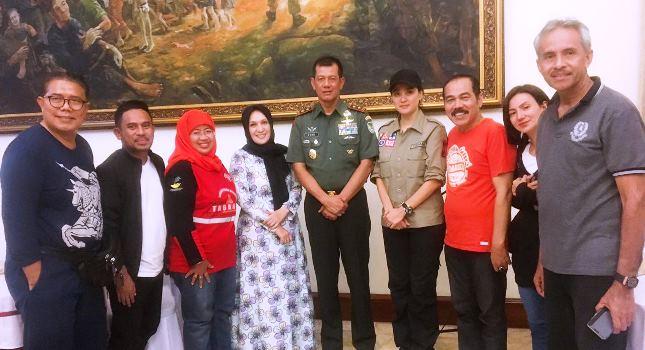 Pangdam III Siliwangi, Mayjen Doni Monardo Menerima Pengurus PARFI56 di Rumah Dinas, Bandung.