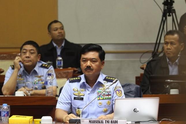 Paripura DPR Detujui Marsekal Hadi Tjahjanto Sebagai Panglima TNI (Foto Rizki Meirino)