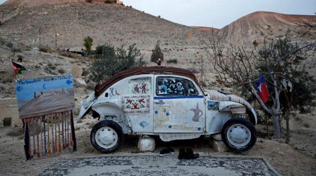 Hotel Mobil Volkswagen Beetle di Shoubak, Yordania (Foto:REUTERS/Muhammad Hamed)