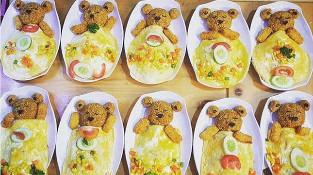 Teddy Bar, Hadirkan Berbagai Menu Berbentuk Teddy Bear (Foto:Ist)