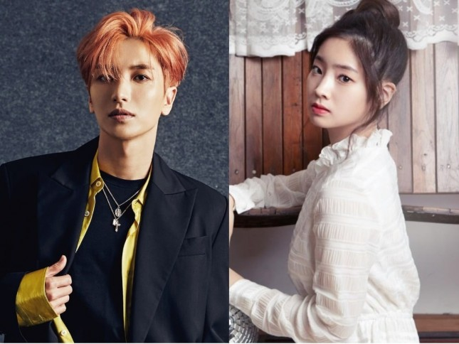 Leeteuk 'Super Junior' dan Dahyun 'TWICE'. (Source: www.Soompi.com)