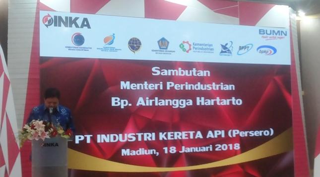 Menteri Airlangga: Industri Kereta Api Nasional Semakin Kuasai Teknologi (Foto Ridwan)