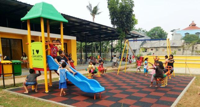Salah satu Ruang Publik Terbuka Ramah Anak (RPTRA) yang sudah terstandar