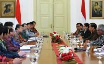 Presiden Jokowi dan Delegasi Utusan PM Jepang (Foto Setkab)