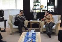 Menperin Airlangga Hartarto bersama Ketua Asosiasi Fastener Indonesia (AFI) Rahman Tamin (Foto: Dok. INDUSTRY.co.id)