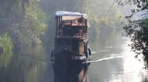 Kapal Klotok di Sungai Sekonyer Taman Nasional Tanjung Puting, Kalimantan Tengah (Foto: Tempo/Francisca Christy Rosana)