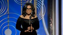 Oprah Winfrey berpidato saat di acara Golden Globe 2018. (Dok FOX)