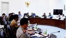 Ilustrasi rapat kabinet terbatas yang dipimpin Presiden Jokowi. (Foto: Biro Pers Istana)
