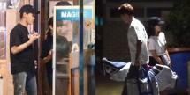 Pasangan kekasih, Park Shin Hye dan Choi Tae Joon menghabiskan waktu bersama. (Foto: Dispatch)
