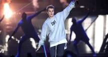 Justin Bieber saat konser di Manchester Arena. (Source: Metro UK)