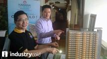 Direktur PT Jababeka Creed Residence, Handoyo Lim dan Presiden Direktur Jababeka Residence, Sutedja S. Darmono (Hariyanto/INDUSTRY.co.id)