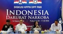 Anggota Komisi III DPR RI, Daeng Muhammad, Roy Marten, Yasmin Muntaz (moderator) dan Mantan Kepala BNN Budi Waseso