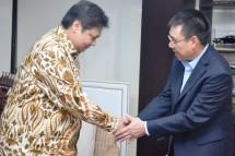 Menperin Airlangga Hartarto saat menerima kunjungan CEO SCG Roongrote Rangsiyopash (Foto: Humas)