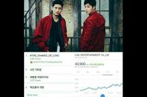 Saham SM Entertainment melonjak tinggi karena album TVXQ. (source: NAVER)