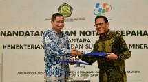 Penandatanganan kerjasama Kementerian ESDM dan BPS