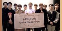 UNESCO dan boyband Wanna One dalam kampanye pendidikan perempuan. (Foto: Allkpop)