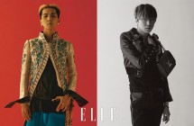 Mino dan Seungyoon WINNER menjadi model brand Louis Vuitton di majalah ELLE Korea. (Source: ELLE)