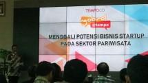 Acara Ngobrol Tempo, Menggali Potensi Bisni Startup Pada Sektor Pariwisata, pada hari Selasa (26/3). (Dina Astria/Industry.co.id)