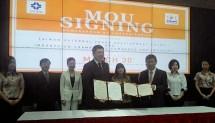 Kamar Dagang dan Industri (Kadin) Indonesia menandatangani nota kesepahaman dengan Taiwan External Trade Development Council, di President Lounge, Menara Batavia, Jumat (30/3/2018)-dok INDUSTRY.co.id