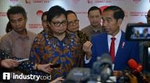 Menteri Perindustrian Airlangga Hartarto bersama Presiden Joko Widodo (Foto: Hariyanto/Industry.co.id)