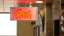 Ilustrasi label halal di restoran. (Geography Photos)