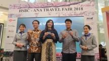 Pembukaan HSBC-ANA Travel Fair 2018 pada hari Kamis (19/4) di Central Park Mall, Jakarta. (Dina Astria/Industry.co.id)