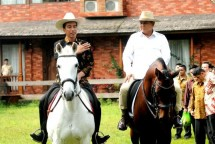 Presiden Jokowi dan Ketum Gerindra Prabowo Subianto (Foto Setkab)