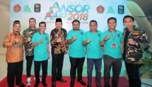 Harlah Gerakan Pemuda Ansor ke-84 dan Ansor Fair 2018 di Jakarta, Minggu (22/4).