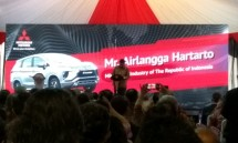 Menteri Perindustrian Airlangga Hartarto saat menghadiri Ceremony Ekspor Perdana Mitsubishi Xpander (Foto: Ridwan/Industry.co.id)