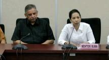 Direktur Utama PT PLN Sofyan Basir dan Menteri BUMN Rini Soemarno
