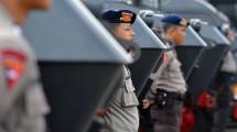 Ilustrasi persiapan penjagaan polisi. (Adek Berry/AFP)