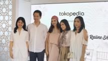 Tokopedia bersama PVRA x AVA Prologue x Kami x Raline Shah pada Senin (21/5) di Suasana Restaurant. (Dina Astria/Industry.co.id)