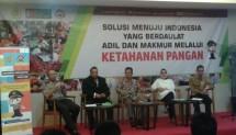 Ketua Umum Kelompok Kontak Tani Nelayan Andalan Nasional (KTNA Nasional), saat berbicara di acara Forum Promoter 2018 Polri yang membahas tema Solusi Menuju Indonesia yang Berdaulat Adil dan Makmur Melalui Ketahanan Pangan, Rabu, 23 Mei 2018