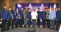 Ketua Umum HIPMI Jakarta Timur Andre Tirtoadji disela sela acara Rakercab yang diadakan di Hotel Santika TMII Jakarta, Rabu (23/5/2018)