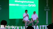 Grab kampanyekan #Bahagiaitudekat (Hariyanto/INDUSTRY.co.id)