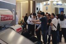 Ariston Thermo Indonesia (ATI) Pada Pameran IndoBuildTech 2018, (Foto : dok Industry.co.id)