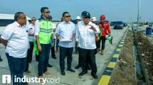 Menteri Basuki saat meninjau ruas tol Pejagan-Pemalang