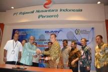 PT Perkebunan Mitra Ogan melakukan penandatanganan Kerjasama Kemitraan Penjaminan Produksi Minyak Kelapa Sawit dengan PT Kliring Berjangka Indonesia (Persero) (KBI), di Gedung RNI, Jakarta