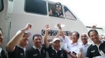 Jamkrindo dan BUMN lainnya bersama menteri BUMN melepas pemudik