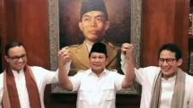Prabowo Subianto bersama Anies-Sandie
