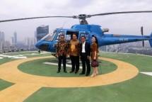 Menteri Perindustrian Airlangga Hartarto bersama Chairman Jababeka S.D. Darmono saat mengunjungj Kawasan Industri Jababeka (Foto: Dok. Industry.co.id)