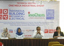 One Mega Industrial Series 2018, akan menghadirkan tiga rangkaian pameran utama yakni Indonesia Building Mechanical Electrical 2018, InaChem 2018, serta Indonesia Steel Building & Metal Structure Expo.