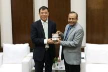 Kepala Badan Penelitian dan Pengembangan Industri (BPPI) Ngakan Timur Antara bersama Direktur Jenderal Kerja Sama Ekonomi Luar Negeri, Kementerian Ekologi dan Perlindungan Lingkungan China, Chen Liang (Foto: Dok. Kemenperin)