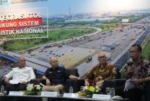"Diskusi Media Forum Merdeka Barat (FMB 9) dengan tema ""Integrasi Tol Dukung Sistem Logistik Nasional"" di Ruang Serba Guna Kementerian Komunikasi dan Informatika, Jakarta, Senin (02/07/2018)."