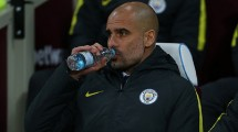 Pelatih Manchester City Pep Guardiola. (Catherine Ivill - AMA/Getty Images)