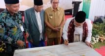 Acara peresmian Pegadaian di Madura menjadi syariah, yang dihadiri oleh Ketua Majelis Ulama Indonesia, K.H. Ma'ruf Amin (Dok Industry.co.id)